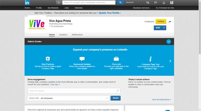 Linkedin Business Account Step 10