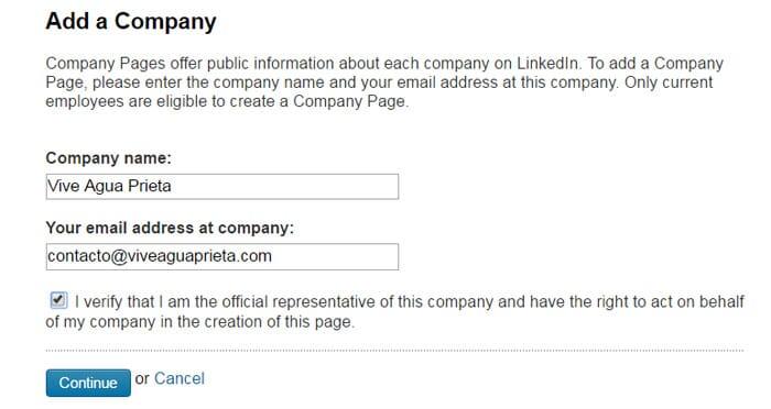 Linkedin Business Account Step 3
