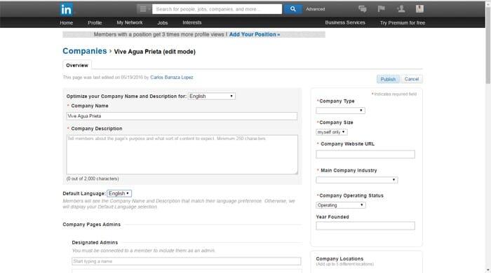 Linkedin Business Account Step 7