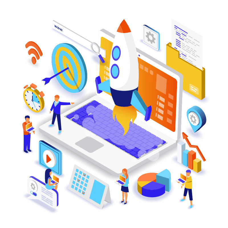 Entrepreneurship-Isometric