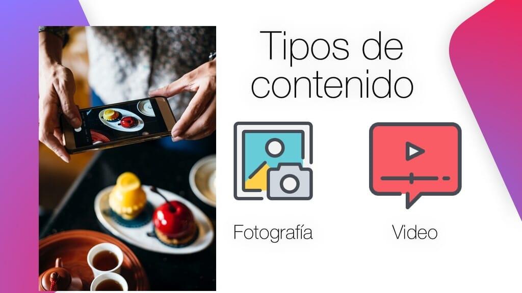 Tipos de contenido para instagram