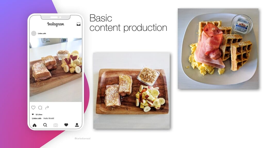 Basic instagram content production