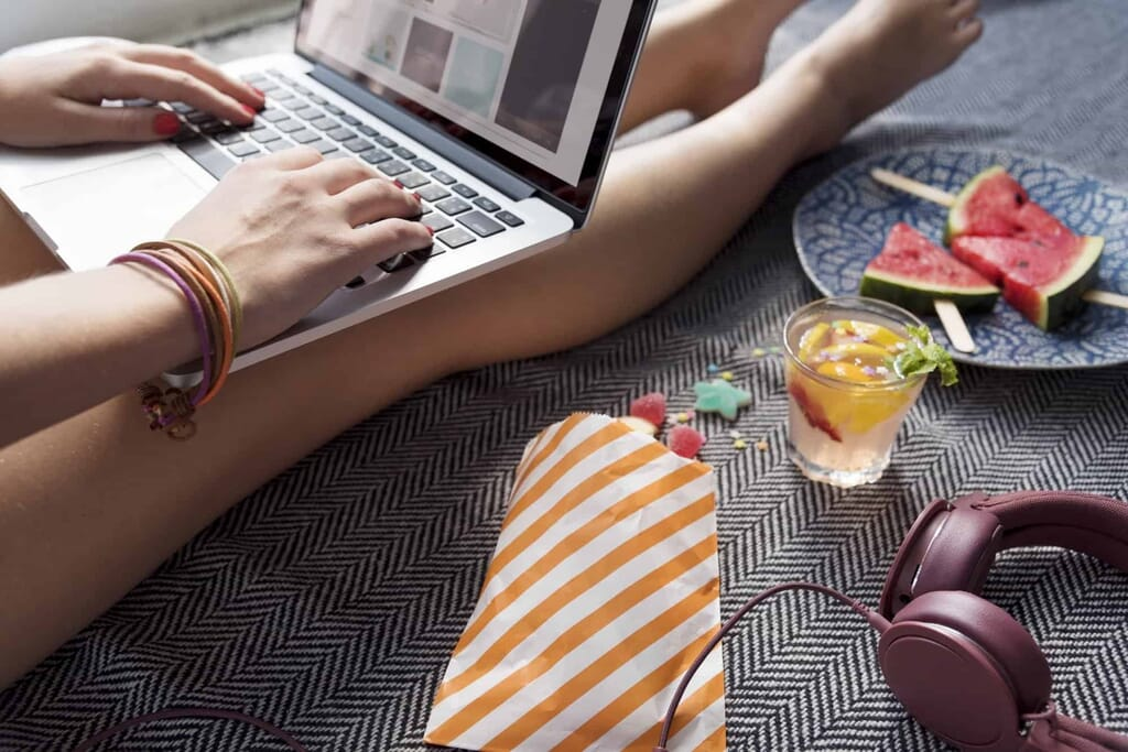 Woman Browsing Internet Website Concept