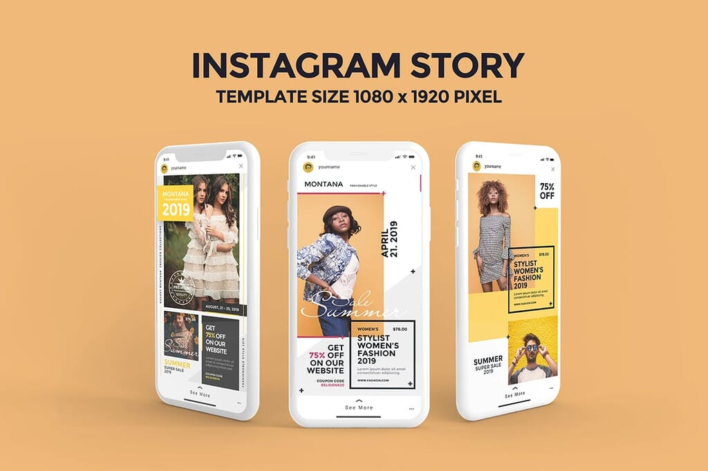 Instagram Story Fashion Templates PSD