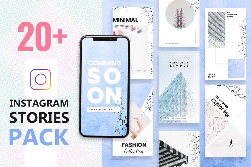 Instagram Story Templates PSD Pack