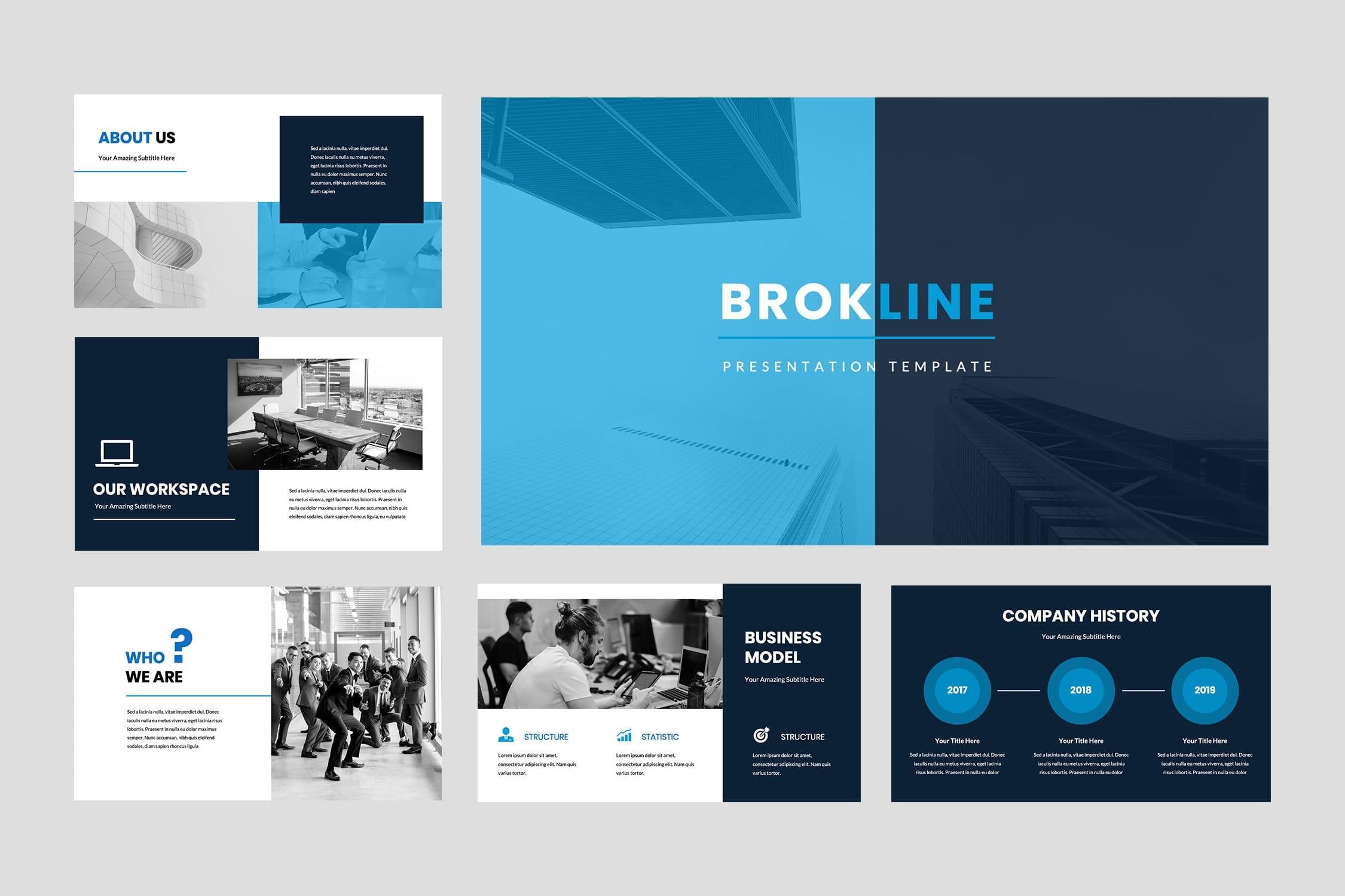 brokline business powerpoint presentation 2