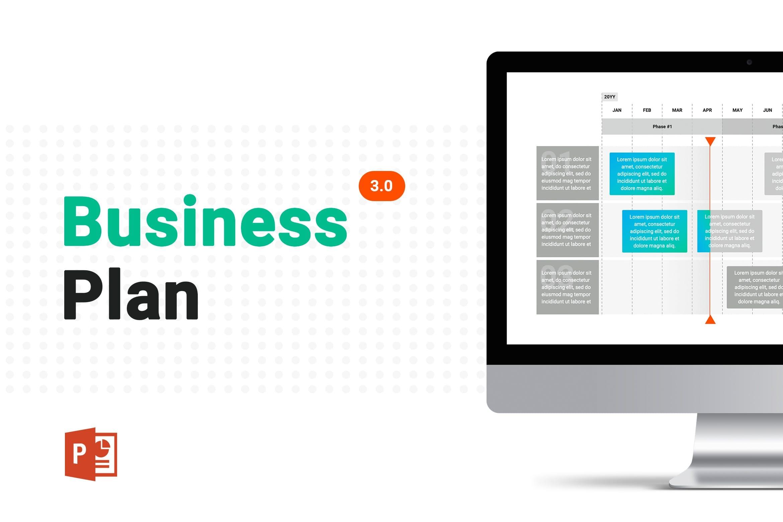 business plan 3 powerpoint template 1