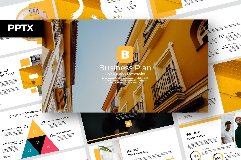 business plan powerpoint multipurpose template 1