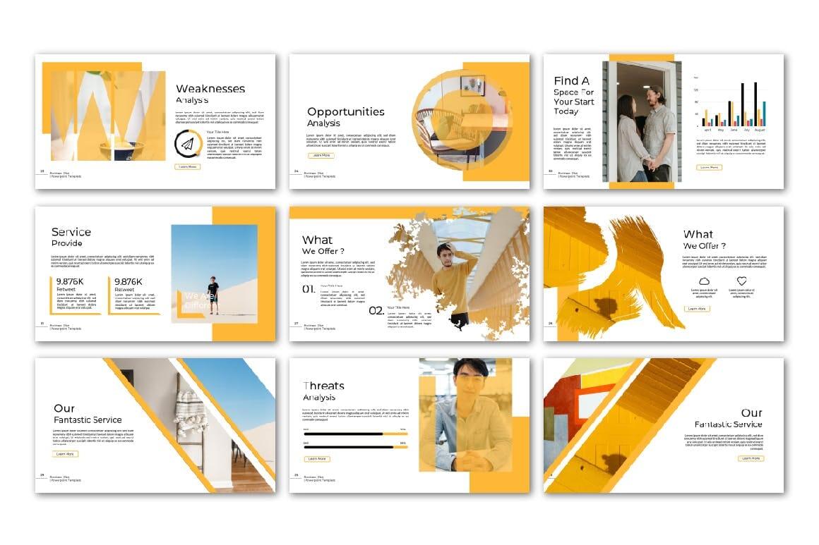 business plan powerpoint multipurpose template 4