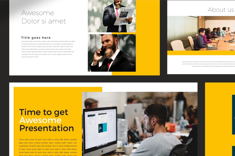 business plan powerpoint template 7
