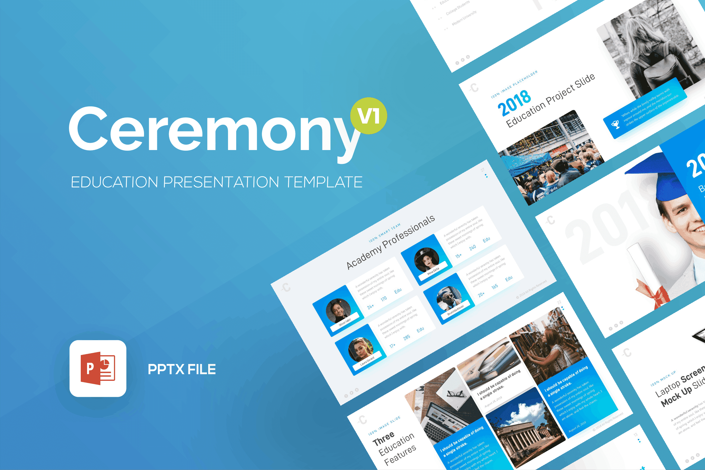 ceremony education powerpoint template 1