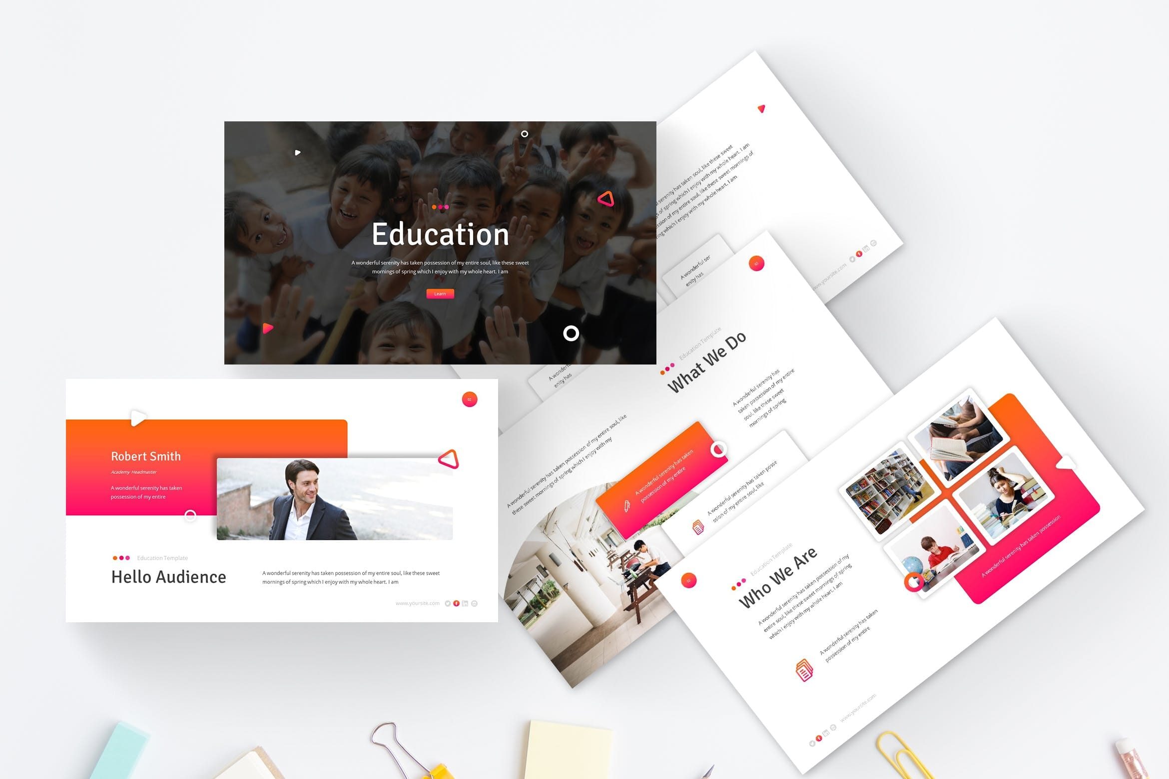 education powerpoint template 1