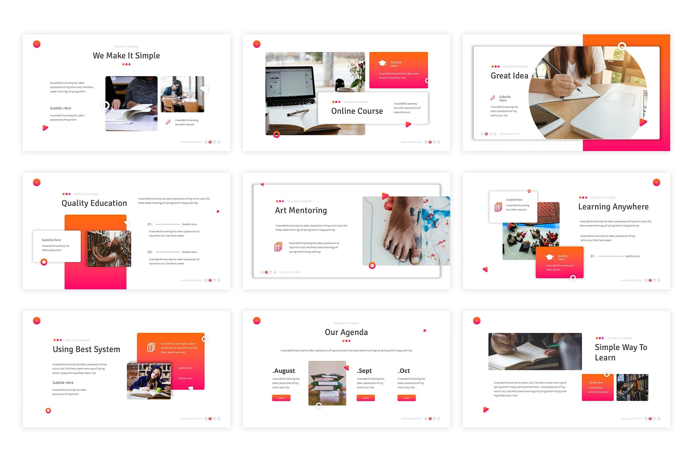 education powerpoint template 4