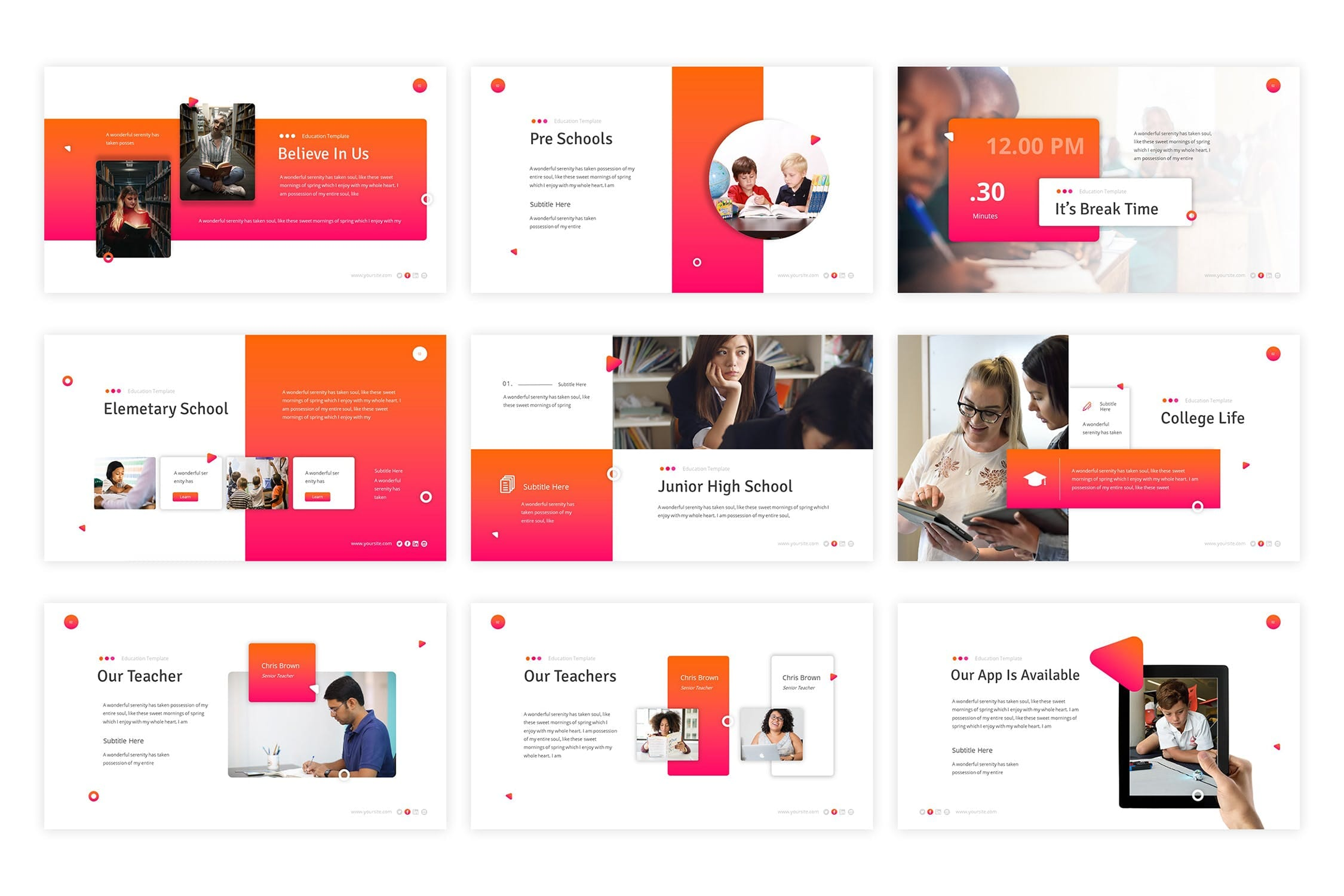 education powerpoint template 5
