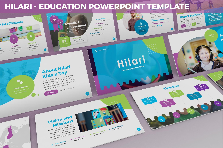 hilari education powerpoint template 1