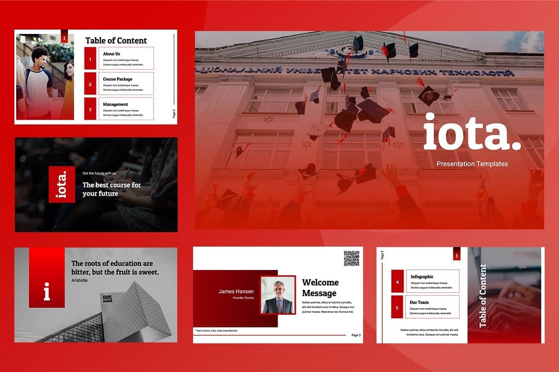 iota education powerpoint template 2