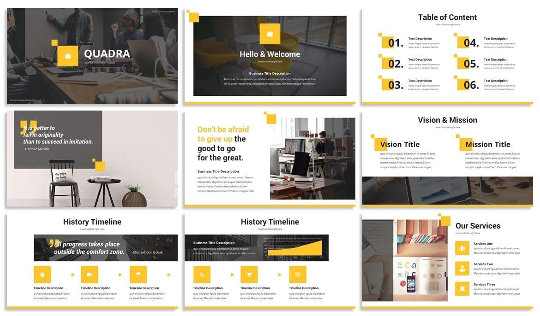 quadra business powerpoint template 2