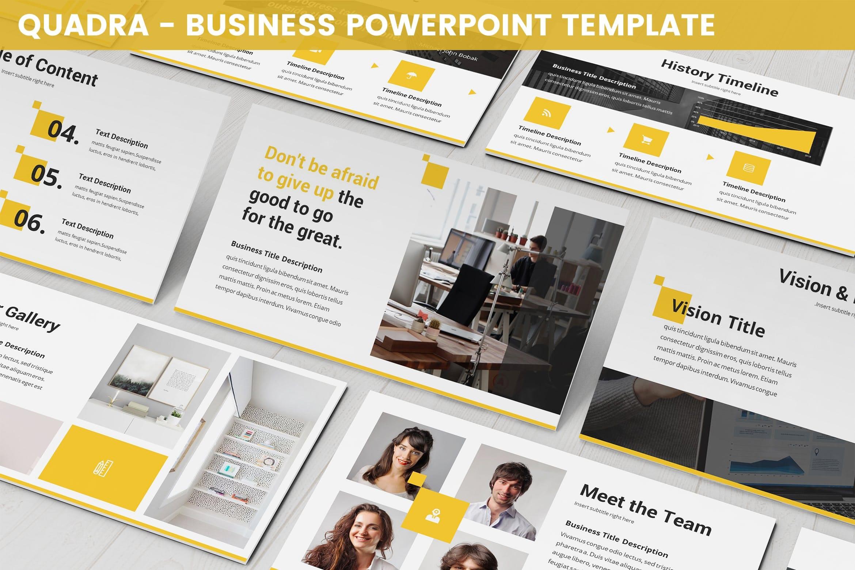 quadra business powerpoint template