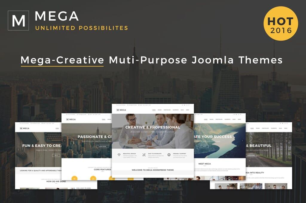 responsive creative joomla template