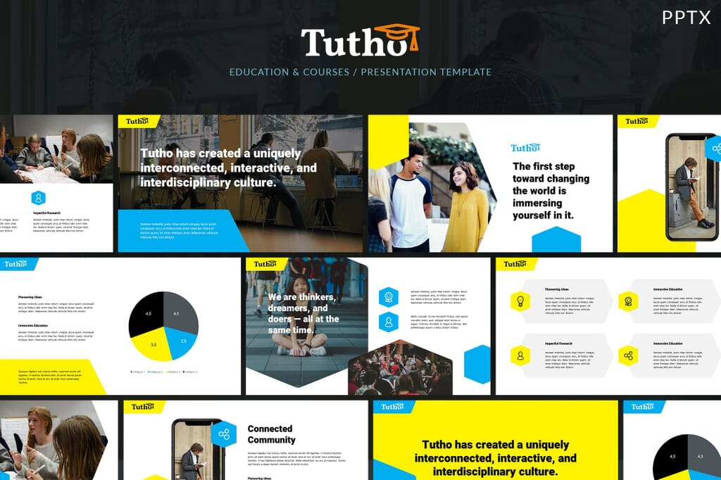 tutho education powerpoint template 1