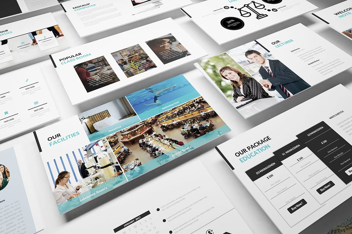 university and education powerpoint template 2