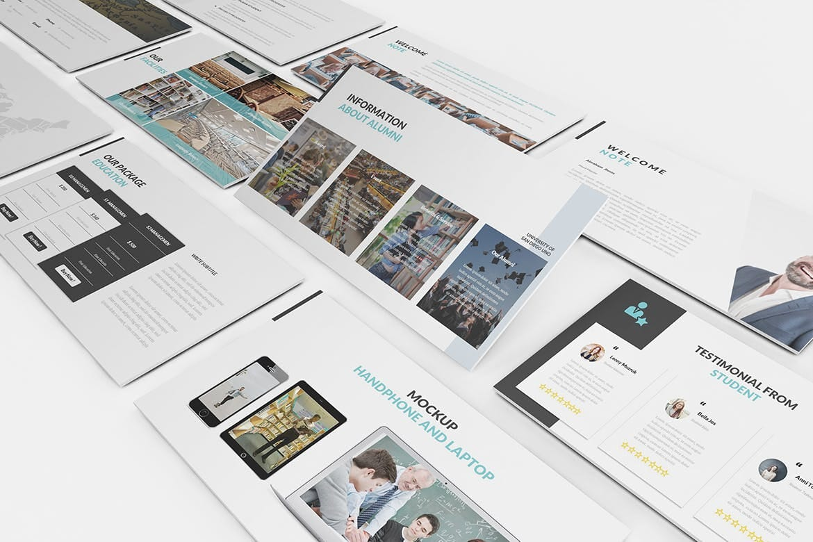 university and education powerpoint template 3