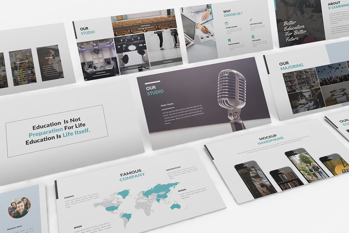 university and education powerpoint template 4
