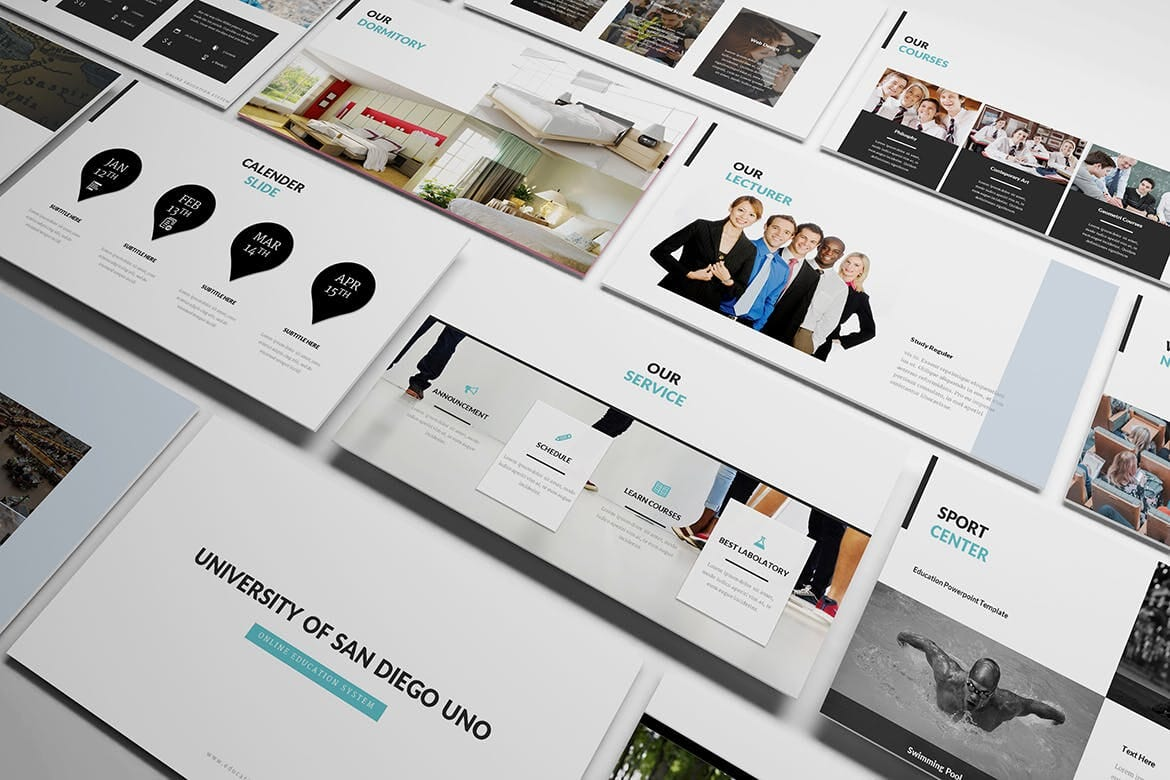 university and education powerpoint template 5