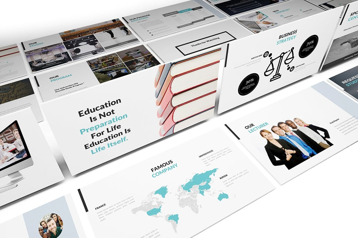 university and education powerpoint template 6