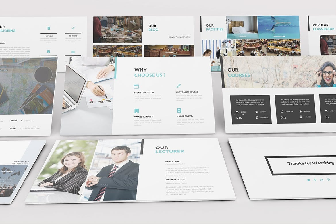 university and education powerpoint template 9